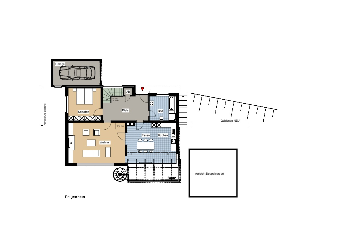 umbau modernisierung eines wohnhauses in hanglage ais. Black Bedroom Furniture Sets. Home Design Ideas