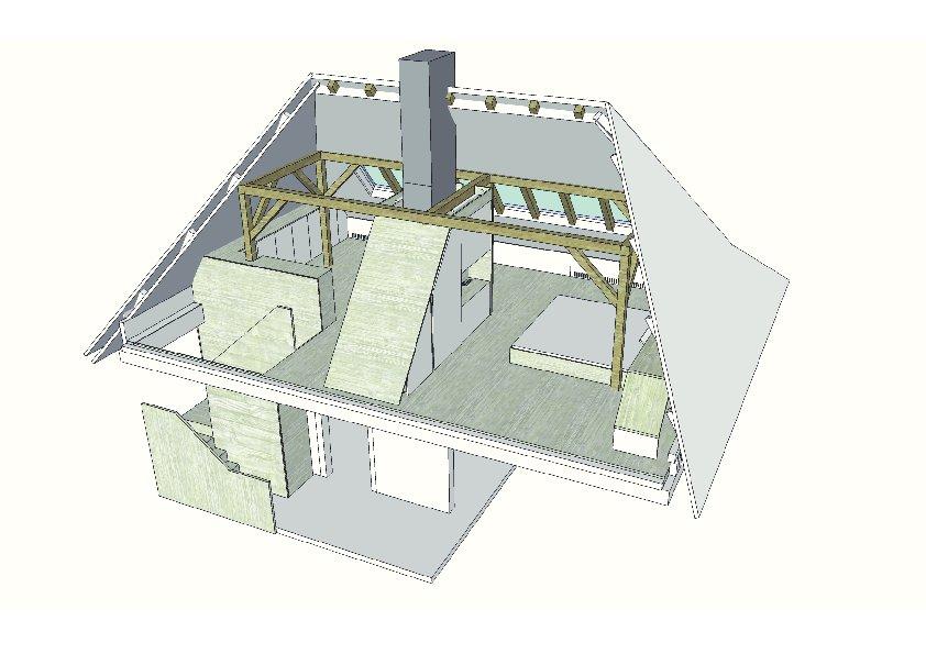 kleine villa dachausbau ais. Black Bedroom Furniture Sets. Home Design Ideas