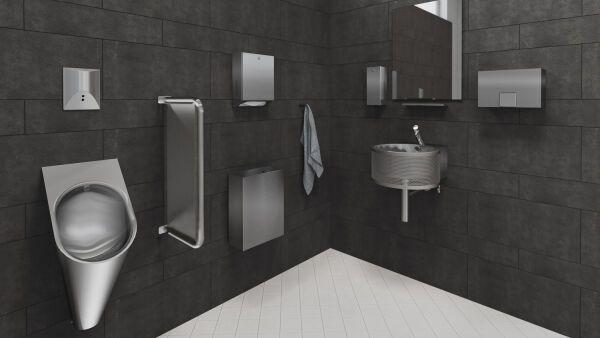 Sanitärraumausstattungen aus Edelstahl